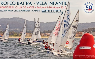 Campeonato Baitra Vela Infantil en Baiona, Clase Optimist