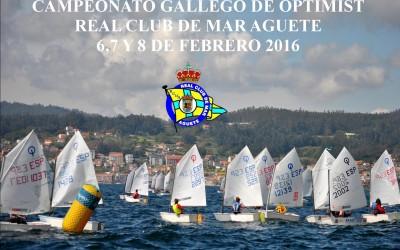 Campeonato Gallego de Optimist 2016 R.C.M.Aguete T.Manuel Nores