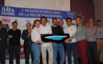 Espectacular final de la 3ªRegata Interclubles de Cruceros de la Ría de Pontevedra