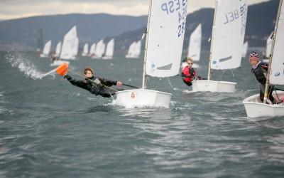 El Balear, Álex Tormo manda después de las tres primeras regatas el Meeting Cidade de Vigo de Optimist