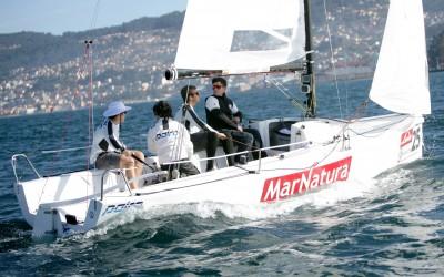 El velero de José Luís Freire y Luís Bugallo, Marnatura fue el más regular de la primera jornada en la ría viguesa