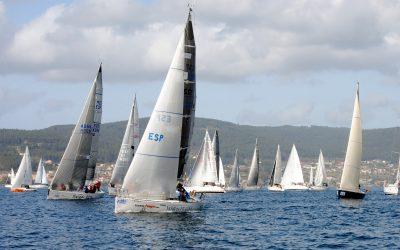 Fuerza 4, Balea Dous, Aguieira I, Santiago Roma Rías Baixas, Vento Sur y Cassandra ganan la segunda etapa de la Regata Interclubes Ría de Pontevedra