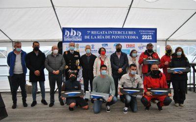 La Regata Interclubes Ría de Pontevedra corona a los vencedores de su séptima edición